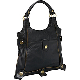 Large Leather Tote Black