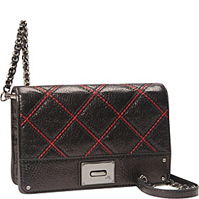 Sabrina Quilted Mini Bag Black/Red