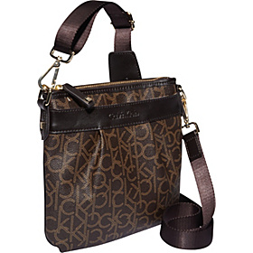 Hudson Monogram Crossbody Brown/Khaki