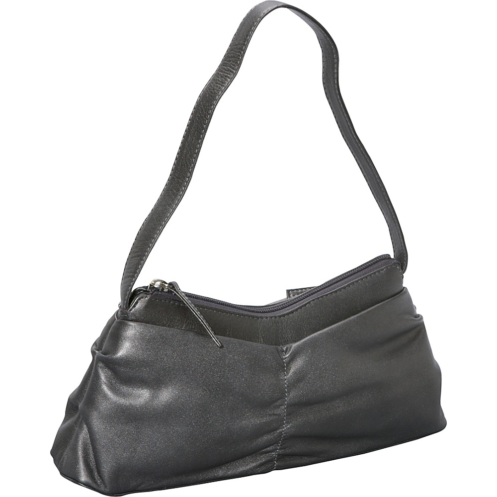 Derek Alexander EW Top Zip Silver - Derek Alexander Leather Handbags - Handbags, Leather Handbags