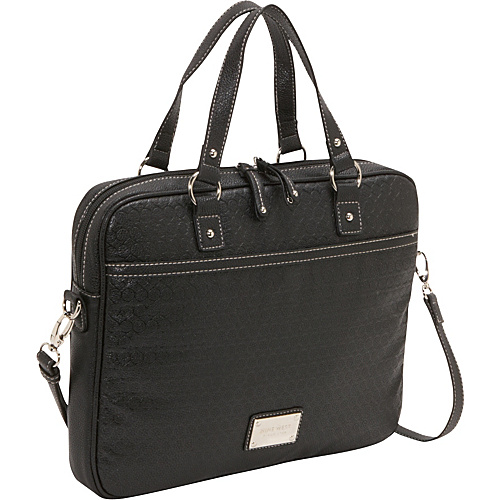 Nine West Handbags Embossed 9s Laptop case Black - Nine West Handbags Ladies' Business