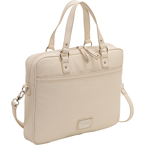 Nine West Handbags Embossed 9s Laptop case New Ivory - Nine West Handbags Ladies' Business
