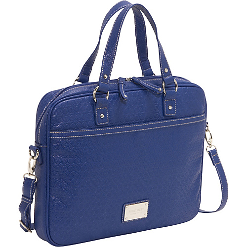 Nine West Handbags Embossed 9s Laptop case Sapphire Blue - Nine West Handbags Ladies' Business