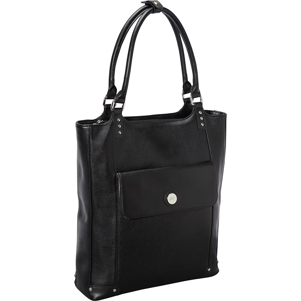 Jill e Designs E GO Leather Laptop Tote Black Jill e Designs Women s Business Bags