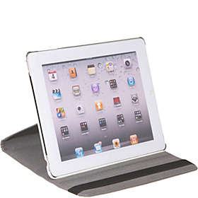 Apple iPad 2 & the New iPad Generation 360 Degree Rotating Leatherette Stand Folio with Stylus/Ballpoint Pen White