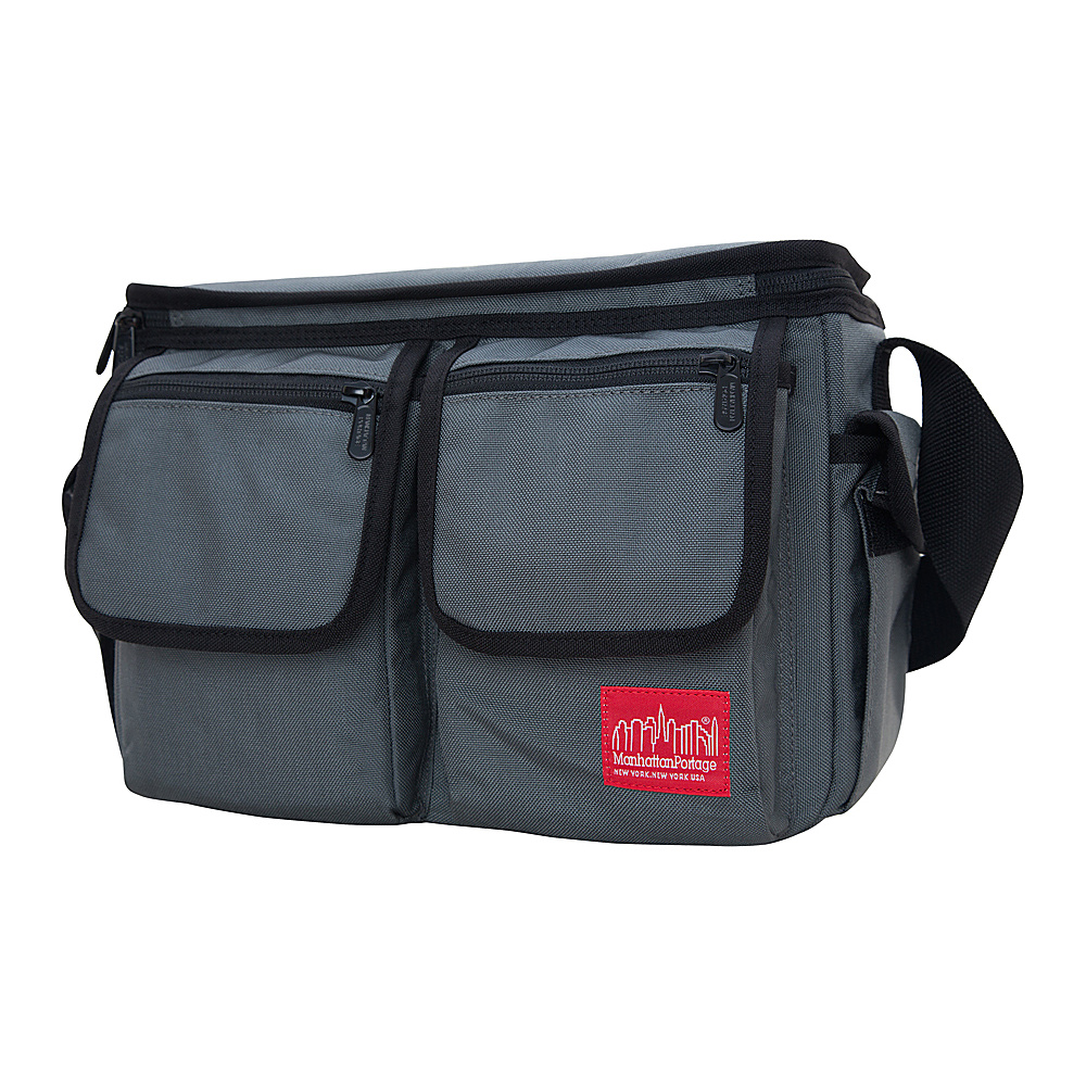 Manhattan Portage Shutterbug Messenger Bag Gray - Manhattan Portage Camera Accessories