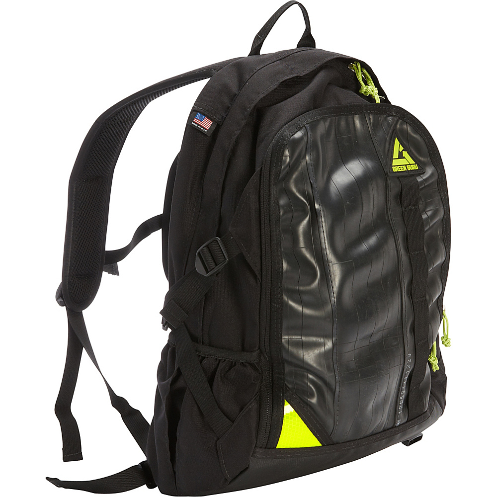 Green Guru Spinner 15 Laptop Backpack Black Green Guru Business Laptop Backpacks
