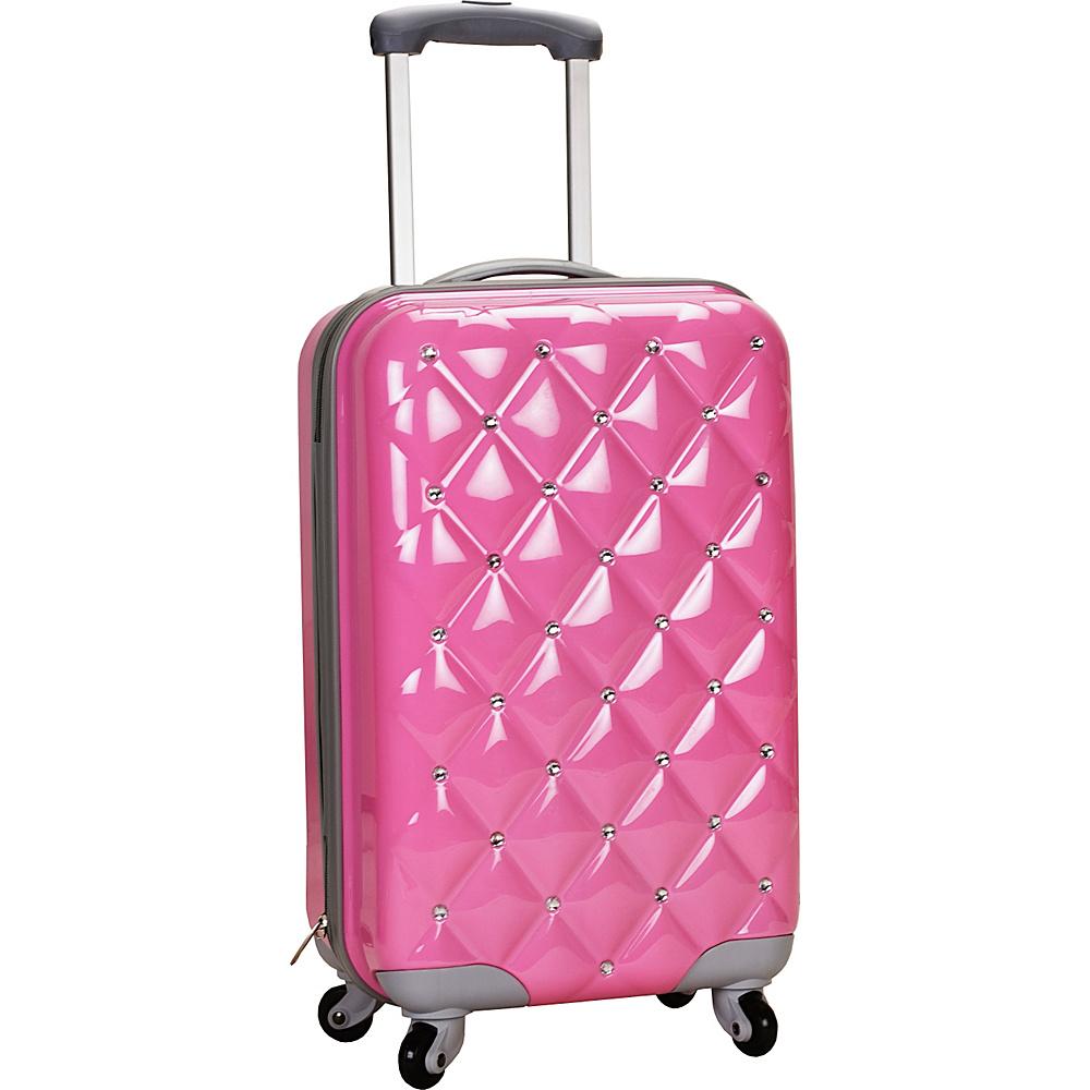 "Rockland Luggage Diamond 20"" Hardside Spinner Carry-on Pink - Rockland Luggage Hardside Carry-On"