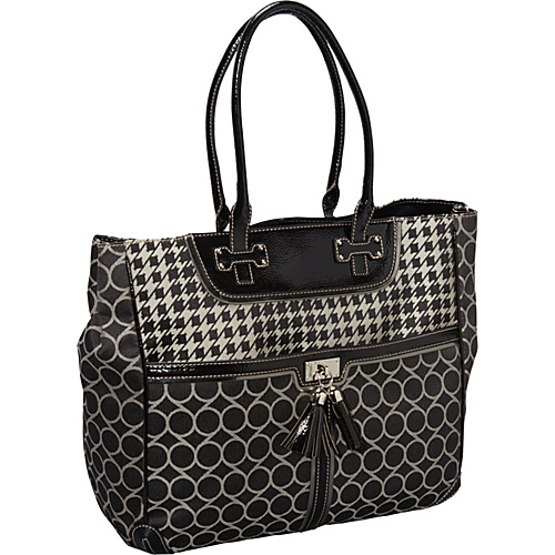 Nine West Handbags On Cloud Ninety Nine Tote Black Ivory Black - Nine West Handbags Fabric Handbags