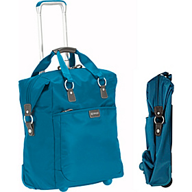Contempo Foldable 18'' Wheeled Tote Aqua