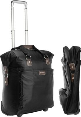 "Image of biaggi Contempo Foldable 18"" Wheeled Tote Black - biaggi Small Rolling Luggage"