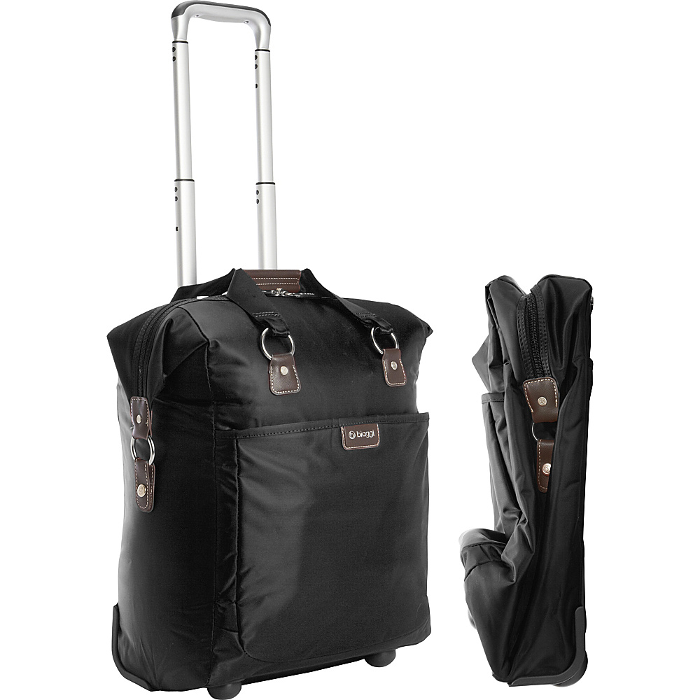 "biaggi Contempo Foldable 18"" Wheeled Tote Black - biaggi Small Rolling Luggage"