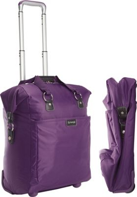 "Image of biaggi Contempo Foldable 18"" Wheeled Tote Purple - biaggi Small Rolling Luggage"