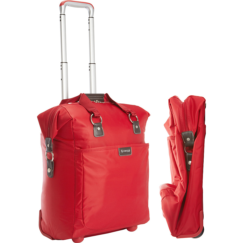 "biaggi Contempo Foldable 18"" Wheeled Tote Red - biaggi Softside Carry-On"