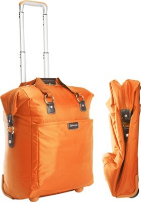 "Image of biaggi Contempo Foldable 18"" Wheeled Tote Orange - biaggi Small Rolling Luggage"