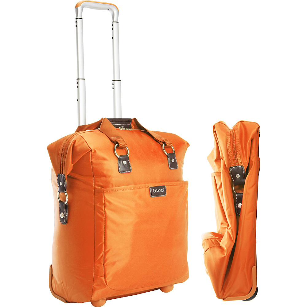 "biaggi Contempo Foldable 18"" Wheeled Tote Orange - biaggi Softside Carry-On"