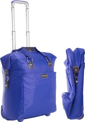 "Image of biaggi Contempo Foldable 18"" Wheeled Tote Cobalt Blue - biaggi Small Rolling Luggage"