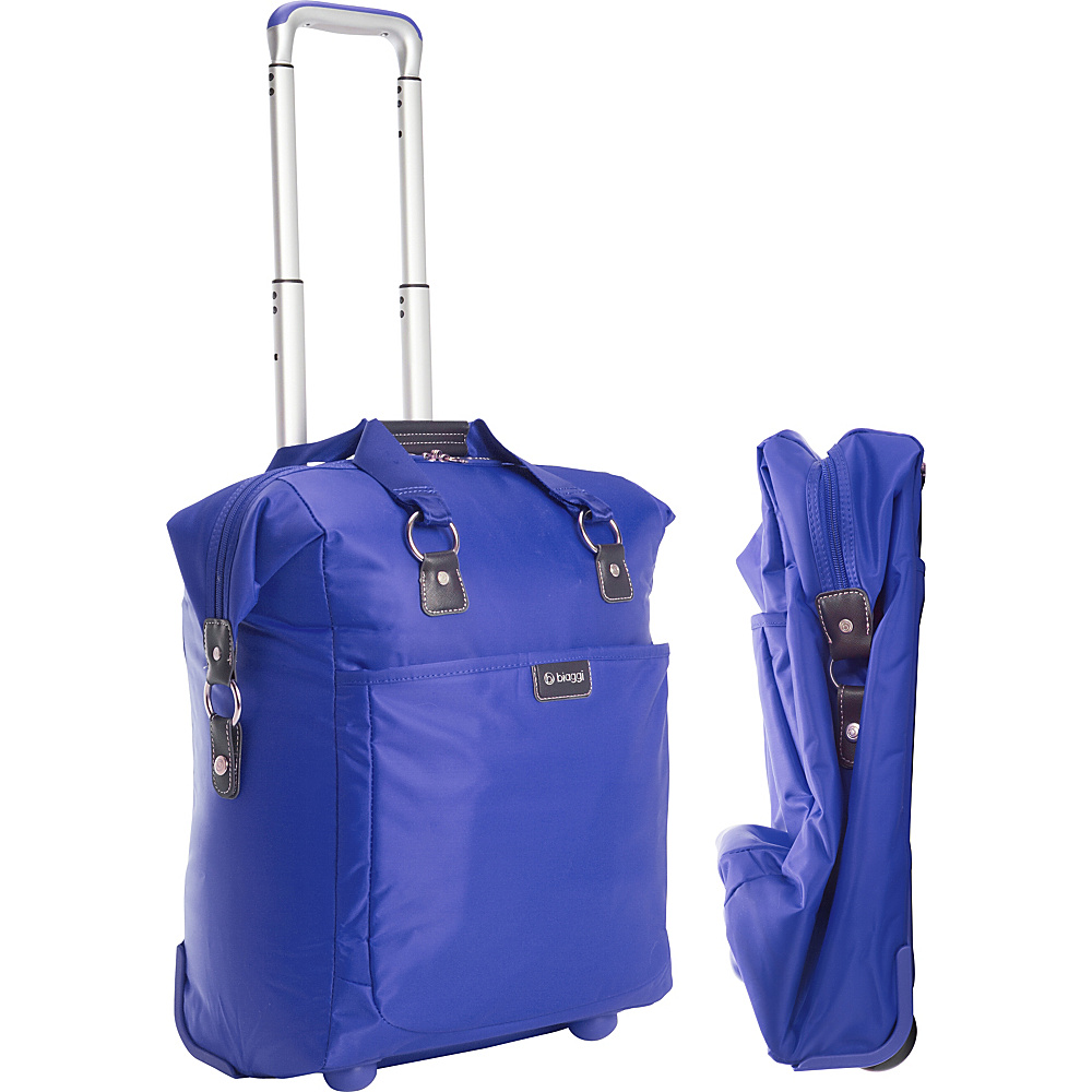 "biaggi Contempo Foldable 18"" Wheeled Tote Cobalt Blue - biaggi Small Rolling Luggage"