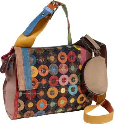 AmeriLeather Corin Mini Cross Body Carrier Rainbow - AmeriLeather Leather Handbags