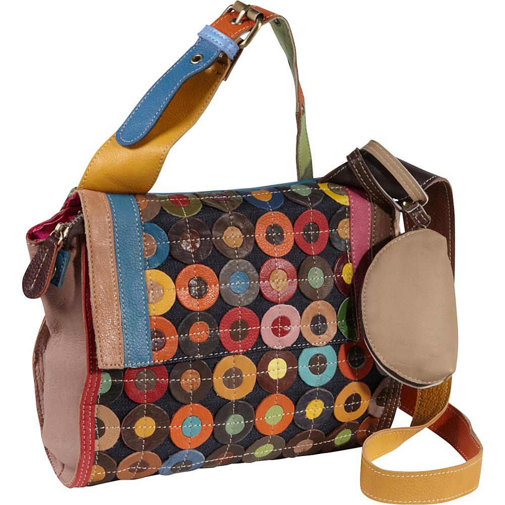 AmeriLeather Corin Mini Cross Body Carrier Rainbow - AmeriLeather Leather Handbags - Handbags, Leather Handbags