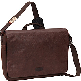 American Bison Leather - Westlook Laptop Messenger Brown