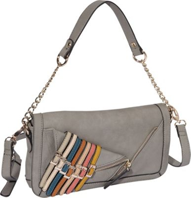Nicole Lee Kyle Shoulder Bag Dark Grey - Nicole Lee Manmade Handbags