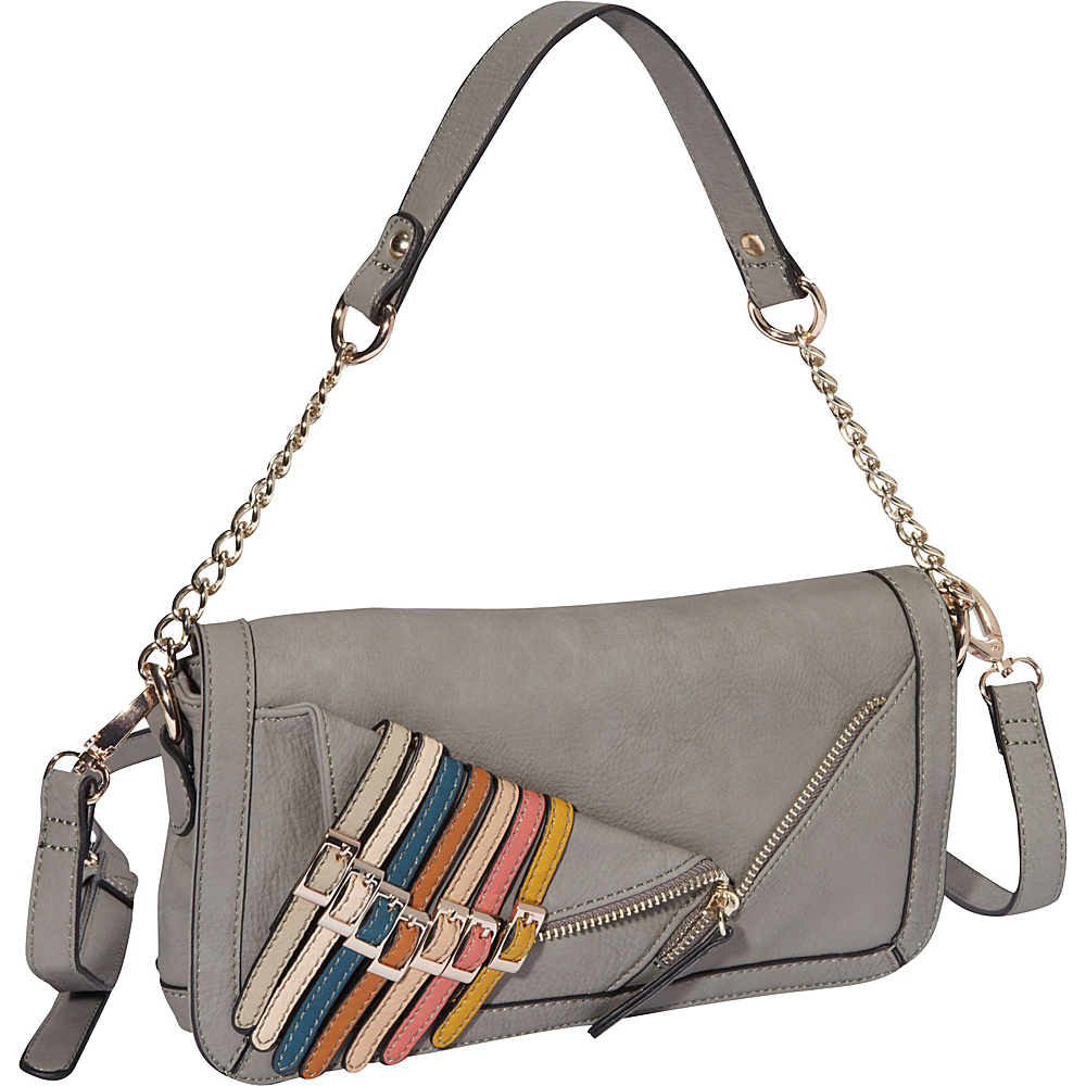 Nicole Lee Kyle Shoulder Bag Dark Grey Nicole Lee Manmade Handbags