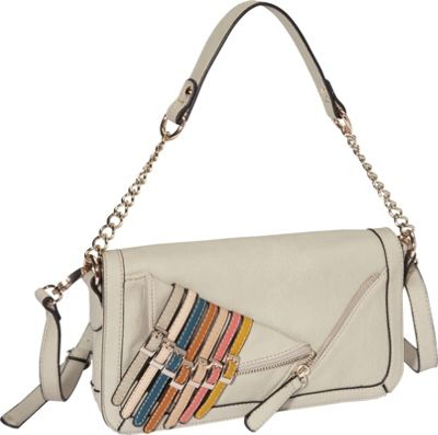 Nicole Lee Kyle Shoulder Bag Beige - Nicole Lee Manmade Handbags