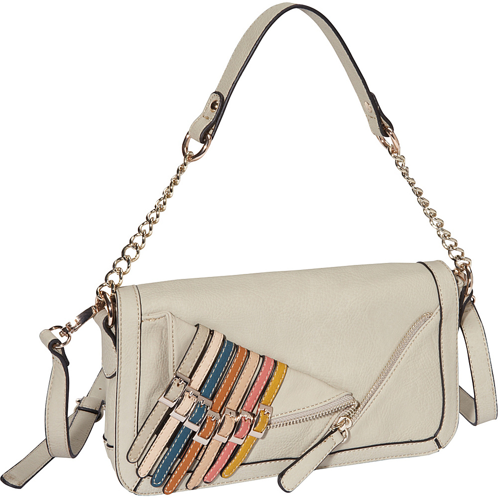 Nicole Lee Kyle Shoulder Bag Beige Nicole Lee Manmade Handbags