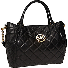 Fulton Quilted  Large Tote Black