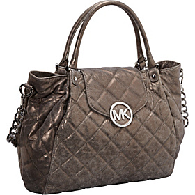 Fulton Quilted  Large Tote Nickel