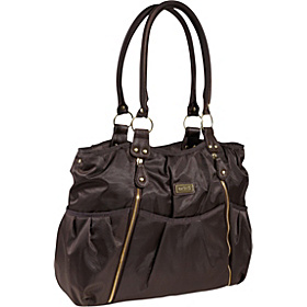 Carters Zip Front Fashion Tote Diaper Bag Brown