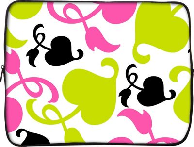 Designer Sleeves 15 inch Laptop Sleeve by Got Skins? & Designer Sleeves Spring Pink and Lime - Designer Sleeves Electronic Cases