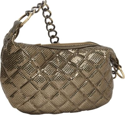 Whiting and Davis Quilted Mesh Hobo Antique Gold - Whiting and Davis Evening Bags