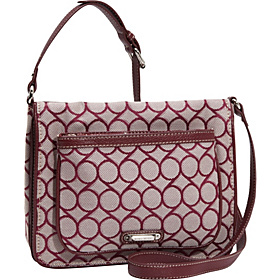 9 Jacquard Medium Tech Crossbody Bordeaux-Ivory/Bordeaux