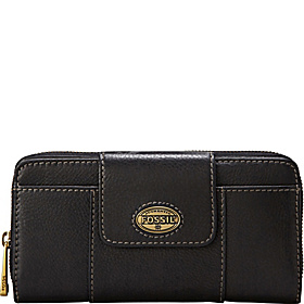 Explorer Zip Clutch Black