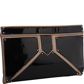 Geometric Blocking Darian Clutch Plover/Black