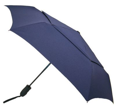ShedRain Windjammer Auto Open & Close Umbrella - Solid Colors Navy - ShedRain Umbrellas and Rain Gear