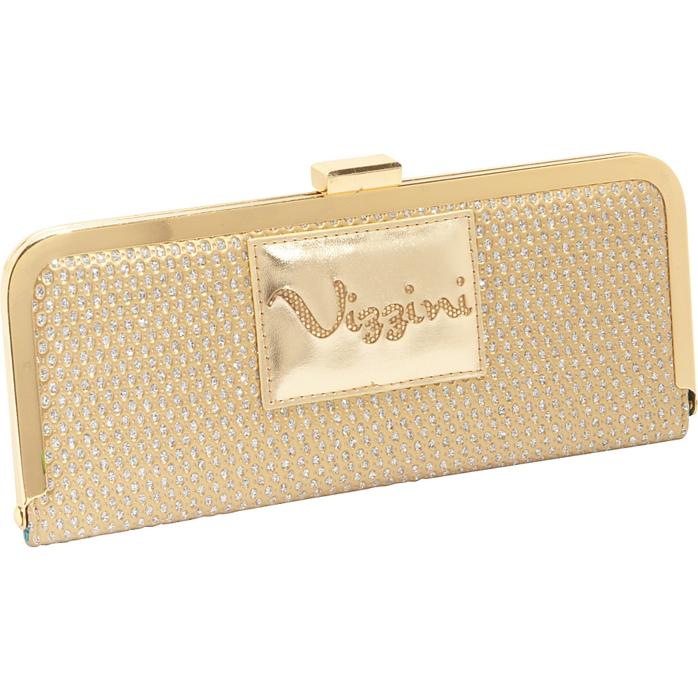 Vizzini Inc. We Mesh Together Gold Wallet Clutch Gold Vizzini Inc. Women s Wallets