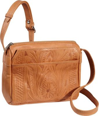 Ropin West Small Multipocket Shoulder Bag Natural - Ropin West Leather Handbags
