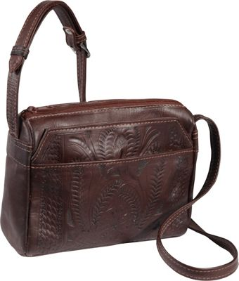 Ropin West Small Multipocket Shoulder Bag Brown - Ropin West Leather Handbags