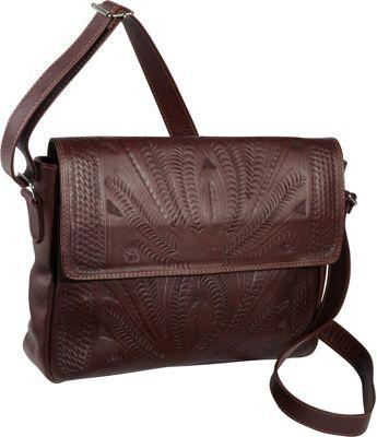 Ropin West Shoulder Bag Brown - Ropin West Manmade Handbags