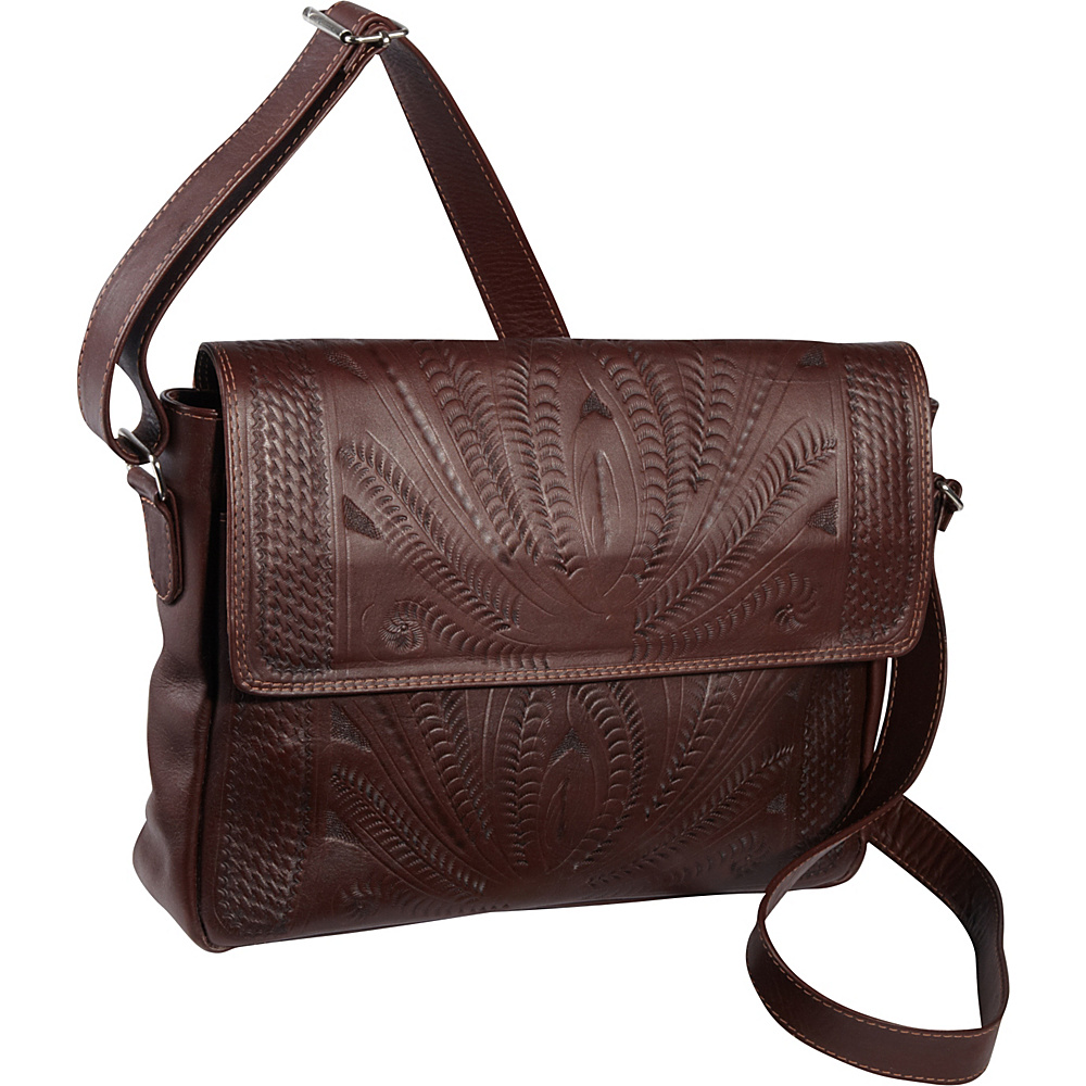 Ropin West Shoulder Bag Brown Ropin West Manmade Handbags