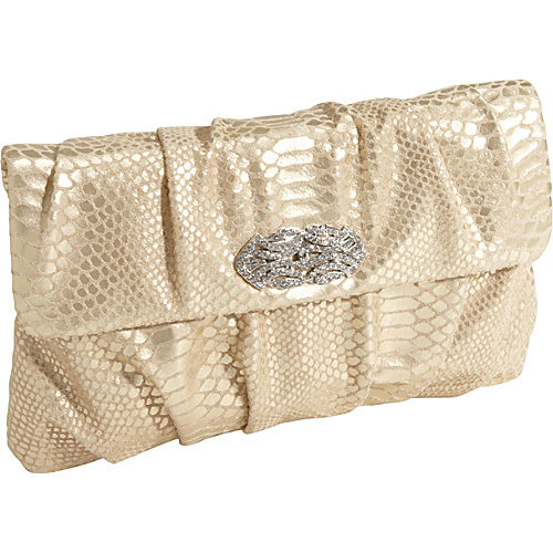 Inge Christopher Zelma Clutch Gold - Inge Christopher Manmade Handbags