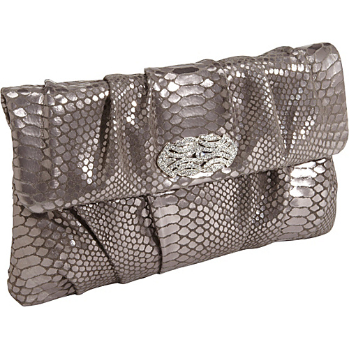 Inge Christopher Zelma Clutch Pewter - Inge Christopher Manmade Handbags