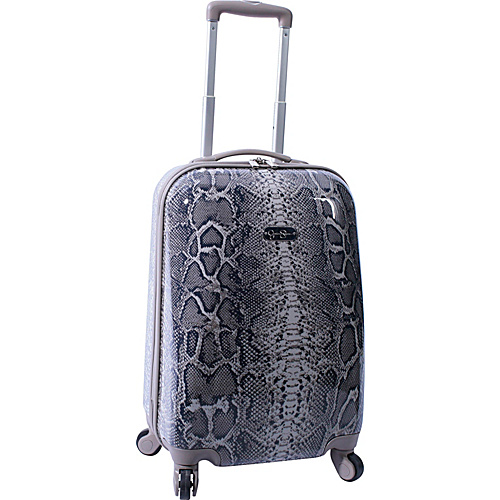 "Jessica Simpson Luggage Snake 20"" Twister Hardside Brown - Jessica Simpson Luggage Small Rolling Luggage"