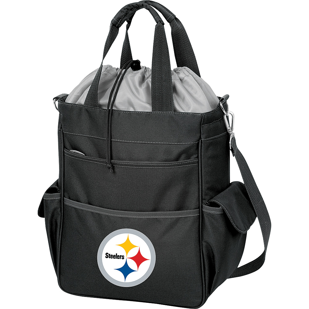 Picnic Time Pittsburgh Steelers Activo Cooler Pittsburgh Steelers Black - Picnic Time Outdoor Coolers - Outdoor, Outdoor Coolers