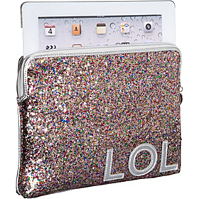 Text-Imitation iPad Sleeve Pink Multi/Bright Silver/LOL