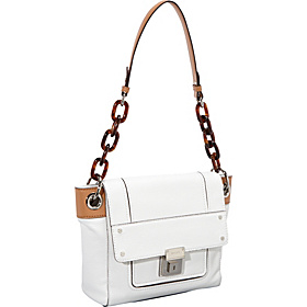 Felicity Pebble Spring Clip Milly Bag White