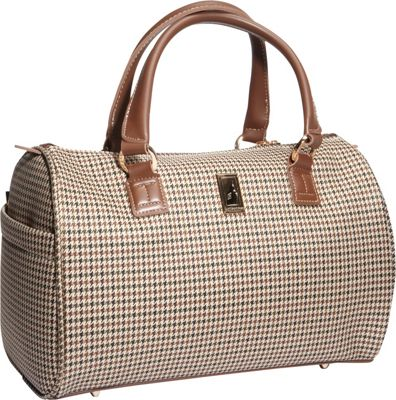 London Fog Chelsea Lites Satchel Tote - 16 inch Olive Plaid - London Fog Luggage Totes and Satchels